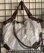 "Iridescent Bling Purse Silver Handbag Zippered NWT Sparkling 11"" X 14"" X 5.5"""