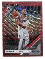 2019-20 Donruss Optic #7 Damian Lillard red wave refractor card Trail Blazers