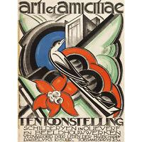Schwarz Artist Exhibition Amsterdam Advert Extra Large Art Poster