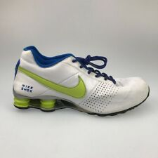 Nike Mens Shox Deliver Running Shoes White Green 317547-134 Lace Up Low Top 11 M
