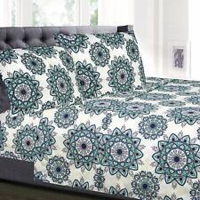 Ashley Green Mandala Printed 4-Piece 1800 Thread Count Sheet Set