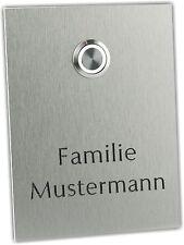 Klingelplatte Klingeltaster Klingel Türklingel Hausnummer Schild  LED   27.001.F
