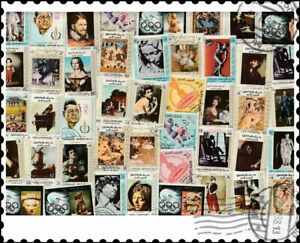 Upper Yafa : 50 Different Stamps Collection