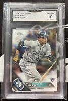 2016 Topps Chrome Ketel Marte #121 RC GMA 10 GEM MINT Rookie Seattle Mariners📈