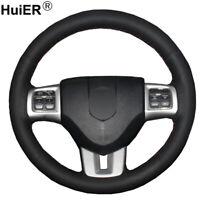 DIY Car Steering Wheel Cover For Dodge Journey Jcuv Avenger Charger Durango