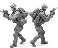 █ 1/35 Resin US seals Soldier in Action Unpainted Unassembled YF098