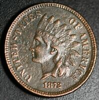 1872 INDIAN HEAD CENT With LIBERTY - VF VERY FINE Details