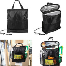 Hanging Oxford Storage Bag For Auto Car Vehicle Seat Back Insulated Cooler Black