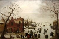 "perfact 36x24 oil painting handpainted on canvas"" Winter Scene""@N3402"