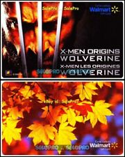 2x WALMART X MEN WOLVERINE SUMMER MAPLE LEAF TREE COLLECTIBLE GIFT CARD LOT