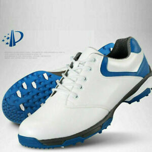Men Soft Leather Golf Shoes Waterproof Breathable Training Golf Sneaker Shoes