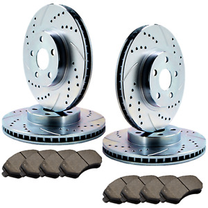 F+R Double Drilled Slotted Zinc Coated Premium Rotors w/Ceramic Pads  ATL055755