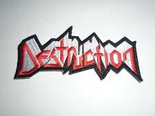 DESTRUCTION THRASH METAL EMBROIDERED PATCH