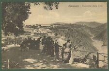 CATANZARO. Panorama dalla Villa. Gruppo di persone. Cartolina viaggiata 1925