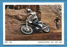 MOTO - Ed. Raf - Figurina/Sticker n. 130 - CAVALLERO SU CZ 400 -Rec