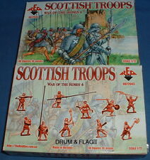 REDBOX 72043 SCOTTISH TROOPS - WAR OF THE ROSES (4)  1/72 SCALE PLASTIC FIGURES