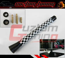 FOR MINI COOPER S R55 R56 R57 CHECKERED FLAG COLOR 5'' INCH SHORT RADIO ANTENNA