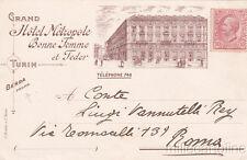 * TORINO - Grand Hotel Metropole (Propr.Berra) 1919