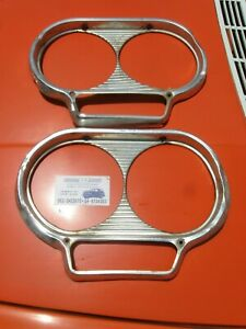 1961 / 62 / 63 / 64 Studebaker Lark Headlights Head Lamp Frame Rim Rings  (2 Pcs