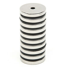 10pcs N52 Strong Countersunk Ring Neodymium Magnets 30 x 5mm Hole 5mm Rare Earth
