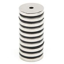 10 tlg Starke Neodym Magnete N52 NdFeB Runde Neodymium 30mm x 5mm mit Loch 5mm