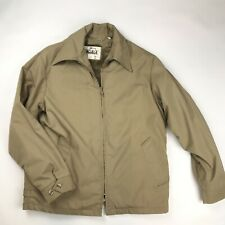 woolrich mens tan jacket lined faux Fur Removable Full Zip