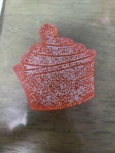 handmade glycerin soap cupcake scented glitter pink