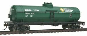 Walthers TrainLine (HO) 931-1441 BRITISH COLUMBIA Railway 40' TANK CAR  - NIB