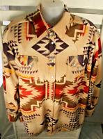 Rockmount Ranch Wear Mens Size L Native Pattern Fleeced Western Shirt Tru-West