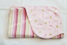 Girl Baby Blanket RACCOON OWL Striped Reversible Stretch Swaddle 100% Cotton