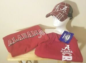 Alabama Crimson Tide NCAA Classic Crimson School Logo XL Fan Game Day Package