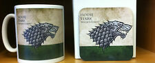 Game of Thrones House Stark Mug and Coaster Gift Set Winter is Coming