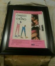 Cheech And Chong Get Out Of My Room Rare Original Promo Poster Ad Framed!