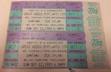 Vintage 2 1993 Santana & Bob Dylan at Great Woods Full Tickets