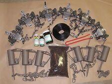 Raccoon Trapping Package duke 6-#11/2 DJ coil spring & 6 duke DP kit Raccoon