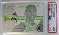 2013-14 SP Authentic 2001-02 Rookie FX Michael Jordan #72, PSA 9, Pop 2 only 9 ^