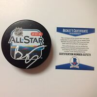 Bebe Rexha Signed Autographed 2019 NHL All Star Hockey Puck Beckett BAS COA a
