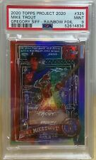 MIKE TROUT x GREGORY SIFF RAINBOW FOIL PSA 9 MINT TOPPS PROJECT 2020 Pr RUN: 402