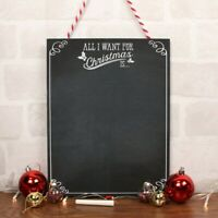 All I Want For Christmas Is Chalkboard Xmas Wish List Plaque Sign Message Board