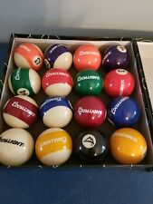 (L@@K) coors light beer set of 16 pool table balls billiards bar game room mib