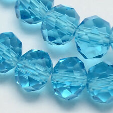 6mm Turquoise Blue Crystal Glass Faceted Bead 100 Beads Rondelle