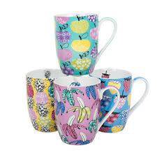 Fruit Frenzy Ceramic Coffee Mugs (set of 4)