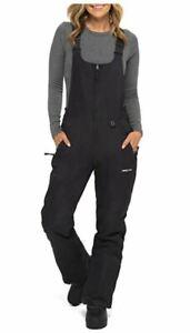 Arctix Womens Essential Insulated Bib Overalls 3X, Black, NEW Customer Return