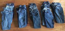 Womens Jeans Designer Lot Sz27-28 (4-6) 18 Pair 7 For All Mankind ,Antik,Buffalo