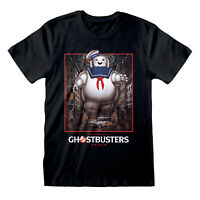 Official Ghostbusters Stay Puft Square T Shirt Classic Movie Poster S M L XL XXL