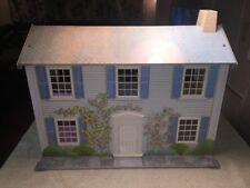 "Vtg""Today's Kids"" Rosewood Manor Dollhouse & Plastic Furniture,Very Collectible!"
