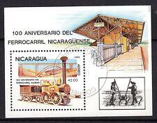 0107+ NICARAGUA BLOC  100° ANNIVERSAIRECHEMIN DE FER ALLEMAND
