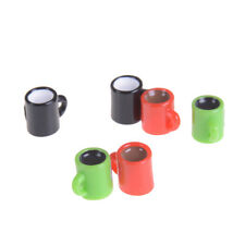 6pcs Mini Coffee Cup Miniature Dollhouse Food Drink Home Tableware Decorss Ep