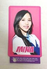 TWICE One More Time - Official Photo Card/Photocard MINA (punched) K-POP CD