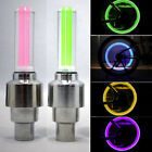 Colorful LED Lamp Flash Tyre Wheel Valve Cap Light For Car Bicycle Motorbicycle